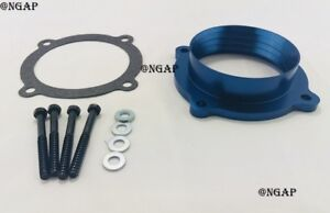 Blue Throttle Body Spacer Fit 11-14 Jeep Grand Cherokee 12-17 Jeep Wrangler 3.6L