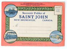 Souvenir postcard views Saint John New Brunswick 1920s ships street views