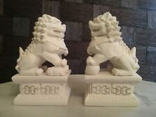 Temple Lion Statue Pair. Chinese Guardian Lions. Fu Fog. Foo Dog.