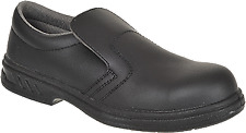 Portwest Mens Steelite Slip on S2 Safety Shoes Fw81 Black 10 UK 44 EU