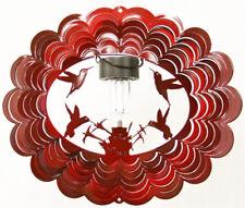 HUMMINGBIRD SOLAR WIND SPINNER Red, Stainless Steel - LIFETIME Rust Warranty