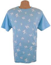 Mambo Surf Camiseta Oficial para Hombre Medio dognut Patrón azul claro