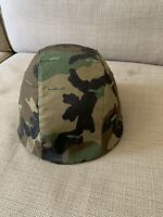 US Milatery Helmet With Woodland Camouflage Cover