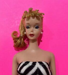 BEAUTIFUL #4 Vintage Blonde BARBIE PT, w/SS & Black Japan Heels NICE! 1961 #179