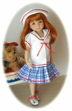 "SUMMER SAILOR! PATTERN-  DRESS, HAT & JACKET 4 EFFNER  13""  LITTLE DARLING  !"