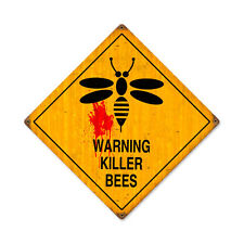 Vintage Style Retro Killer Bees Steel Sign 12 x12