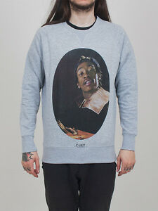 "NWT MEN'S ELEVEN PARIS ""FIX SAINTYF-WIZ KHALIFA"" SWEATSHIRT GREY#14F1LS52 SZ:S,L"
