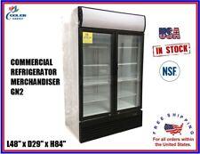 Commercial Refrigerator Merchandiser 2 Glass Door Display L48 x D29 x H84 NSF