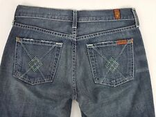 RRP $159 7 For All Mankind Jeans Flare Distressed Tag Sz 26 Womens W28.5
