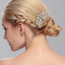 Cristal Diamante de Imitación Tocado Boda Nupcial Accesorios Floral Peine de Cabello 1 Pieza