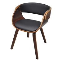 Dining Chair Padded Bentwood Seat Kitchen Furniture Office Restaurant Brown