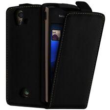 Housse Coque Etui pour Sony Ericsson Xperia Ray ST18i Couleur Noir