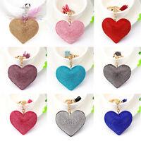Rhinestone Heart Shape Key Ring Keychain Charm Bag Pendant Accessories Decor
