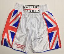 Anthony JOSHUA Heavyweight Boxer Signed Shorts Trunks Style 1 AFTAL COA RARE
