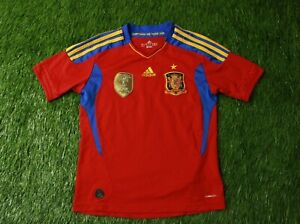 SPAIN NATIONAL TEAM 2011 FOOTBALL SHIRT JERSEY HOME ADIDAS ORIGINAL SIZE YOUNG M
