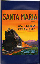 *Original* SANTA MARIA TALL Train ROSEMARY Railroad Vegetable Label NOT A COPY!!