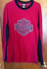 Harley Davidson Mens MD. Red/Black Longsleeve T-Shirt-TEXAS HD-LQQK-EUC!!