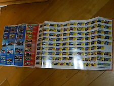 liste & photo des voitures circuit SCALEXTRIC digital car 2009 Leaflet AUTO LIST