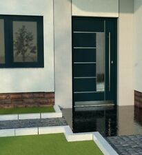 Door Modern Solid External  Aluminium with UPVC WH75 LA40 Entrance Front Door