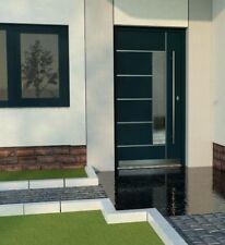 Front Door Modern Solid External  Aluminium with UPVC WH75 LA40 Entrance Door