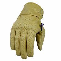 Gants de moto d'été, gants de motard vintage, gants en cuir véritable S-2XL