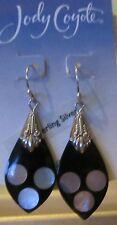 Jody Coyote Earrings JC0949 Matrix MA-0311-07 black mother of pearl dot sterling