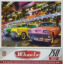 Wheels Three Beauties Classic Cars 750 Jigsaw Puzzle Bonus Poster