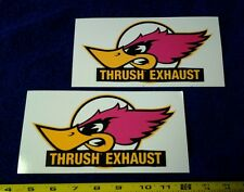 Lot of 2 Vintage Style Racing Decals Rat Hot Rod Nostalgia Muscle Car Stickers