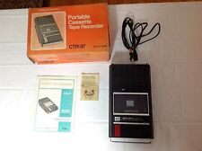 Vintage Realistic CTR-37 Personal Cassette Recorder W/Box