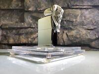 3D NUDE FEMALE ZIPPO LIGHTER - RARE - LTD EDITION - ACRYLIC DISPLAY CUBE - PINUP