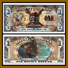 "Disney 1 Dollar, 2011 ""F"" Series 5 Digit Serial Pirates of the Caribbean Unc"
