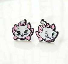 Disney Marie Cat tail up metal earring ear stud anime gift studs new