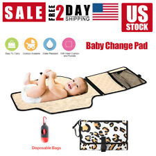 Baby Changing Diaper Pad Fold able Outdoor Clean Waterproof Travel Nappy Bag USA