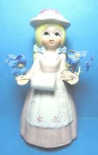 Vintage Reliance Dutch Girl  Porcelain Sewing Pin Cushion Doll Figurine