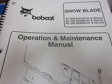 Bobcat Snow Blade Operation & Maintenance Manual