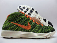NIKE LUNAR FLYKNIT CHUKKA BLACK/ORANGE-GREEN SIZE MEN'S 10 [554969-080]