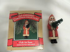 Hallmark Folk Art Santa 1987 Christmas Tree Ornament