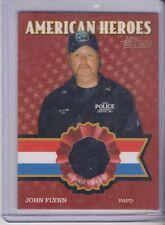 2009 Topps Heritage American Heroes John Flynn PAPD worn shirt