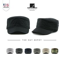 The Hat Depot Army Washed Cotton Basic Military Style Cadet Cap 60012