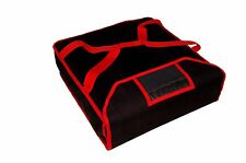 "New Improved Pizza Delivery Bag ( Warm & Insulated , Black/Red ) 26"" approx"