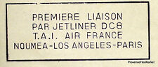 1961 CALEDONIE DC8 NOUMEA L.A. PARIS   Airmail Aviation premier vol AC38
