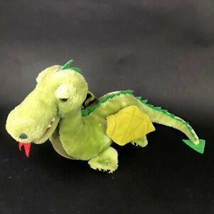 """Dakin Plush Dragon Large 24"""" Stuffed Animal Green Dinosaur 1980 Vintage 80s"""