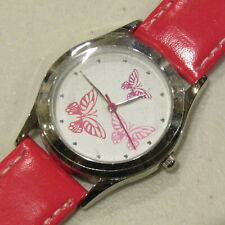 Avon Spring Fling Butterfly Watch Quartz Hot Pink White