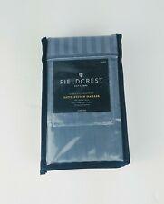 Fieldcrest KING Size Satin Stitch Damask 500 Thread Ct Pillowcase Set Rig Blue