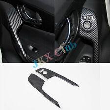 For Nissan Rogue 2014-2018 Carbon Fiber Rearview mirror button adjustment Trim j