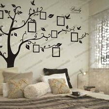 Huge Family Photo Frames Tree Birds Fly Wall Stickers Home Decor Living Room