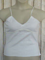 ENERGIE Stretch Cotton Camisole Cami Tank Top Size XL / White NEW