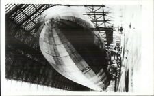Dock Dirigible Zeppelin REPRO/REPRINT Real Photo Postcard Kodak Paper