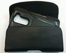 LG G2  Leather Pouch Case Holster Clip Belt  Loop Fit a hybrid case on phone