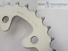 Shimano biopace sg b-28 MTB cadenas hoja plata BCD 74mm 28 dientes 1988/89 26g 28t